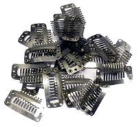 Single Clips #Silver - 12st