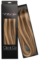 Poze Standard Clip & Go Hair Extensions - 125g Sandy Brown Mix 10B/7BN - 60cm