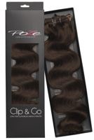 Poze Standard Wavy Clip & Go Hair Extensions - 125g Chocolate Brown 4B - 55cm