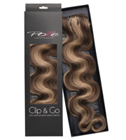 Poze Standard Wavy Clip & Go Hair Extensions - 125g Sandy Brown Mix 10B/7BN - 55cm