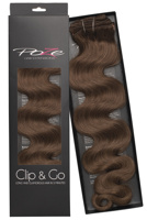 Poze Standard Wavy Clip & Go Hair Extensions - 125g Lovely Brown 6B - 55cm