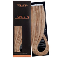 Poze Premium Tape On Hair Extensions - 52g Brown Ashblonde Mix 10B/8B - 50cm