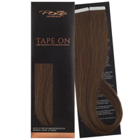 Poze Premium Tape On Hair Extensions - 52g Lovely Brown 6B - 50cm