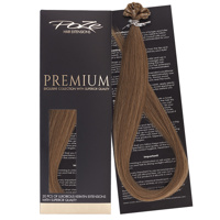 Poze Premium Keratin Extensions Light Brown 8B - 50cm