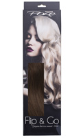 Poze Standard Wire & Clip Extensions - 130g Chocolate Brown 4B - 50cm