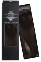 Poze Premium Hair Weft - 110g Dark Espresso Brown 2B - 50cm