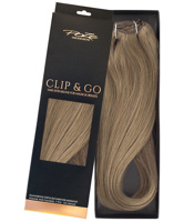 Poze Standard Clip & Go Hair Extensions - 125g Light Ash Brown 8A - 40cm