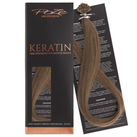 Poze Standard Keratin Extensions Light Ash Brown 8A - 40cm