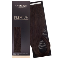 Poze Premium Tape On Hair Extensions - 52g Dark Espresso Brown 2B - 50cm