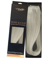 Poze Standard Wire & Clip Extensions - 130g Titanium Blonde 10AS - 50cm