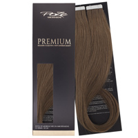 Poze Premium Tape On Hair Extensions - 52g Cool Brown 7NV - 50cm