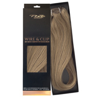 Poze Standard Wire & Clip Extensions - 130g Light Ash Brown 8A - 50cm