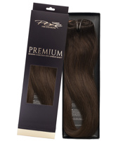 Poze Premium Clip & Go Hair Extensions - 125g Chocolate Brown 4B - 50cm
