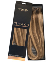 Poze Standard Clip & Go Hair Extensions - 125g Sandy Brown Mix 10B/7BN - 50cm